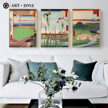 ART ZONE Ukiyo-E Retro Japan Canvas Painting Wall Art Print Poster Picture Home Decor Living Room Bedroom