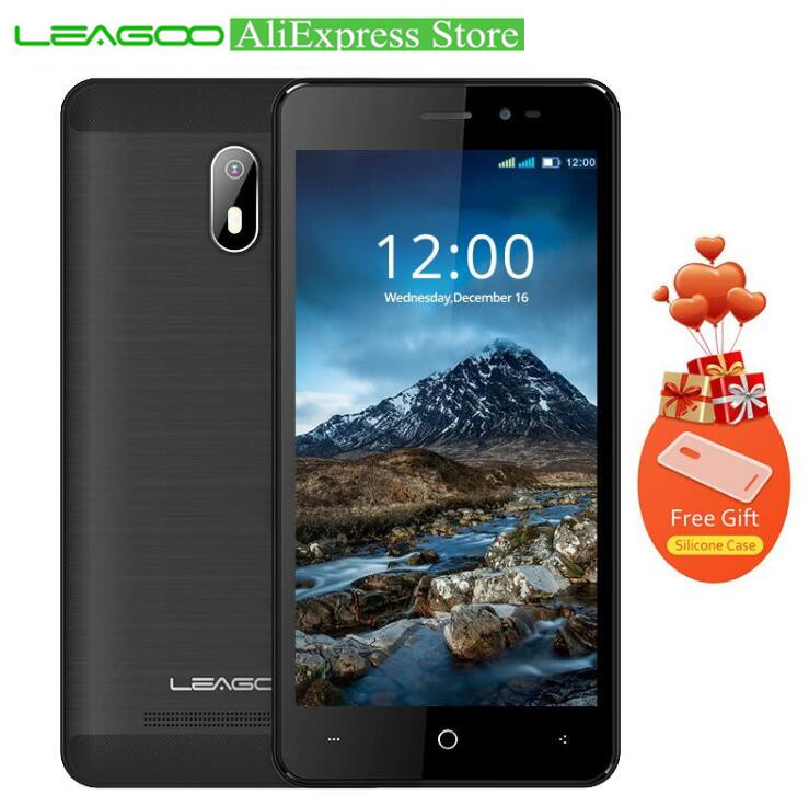 "LEAGOO Z6 4.97"" IPS DisPlay 3G Mobile Phone MTK6580M Quad Core Android 6.0 1GB RAM 8GB ROM 5MP Camera GPS Touch WCDMA CellPhone"