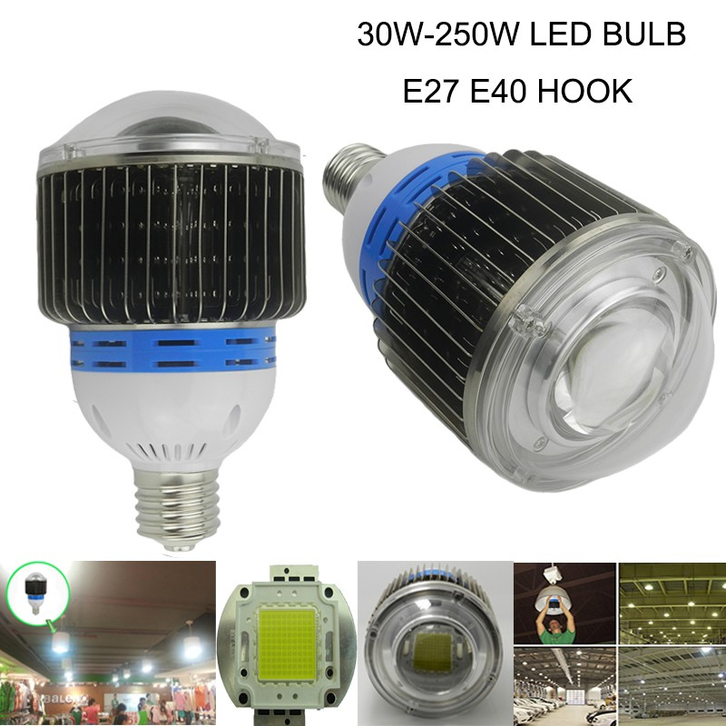 30w 50w 70w 100w LED Flood Light 40W 80W 120W LED High bay light 150w 200w 250w led bulb lamp Warm White / Cool White led lamp high bay light bulb e40 40w 50w