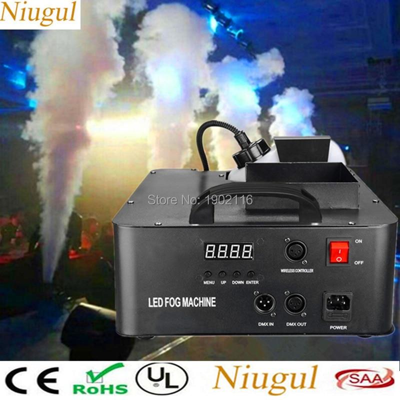 Светодиодный 1500 W RGB 3in1 туман машина Беспроводной и DMX512 дым машина с 24X3 W света профессионального сценического машина DJ/бар/дома Fogger