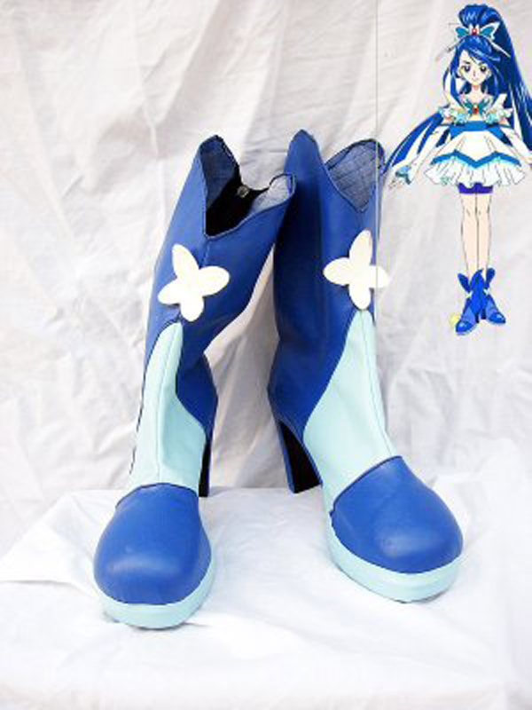 Pretty Cure 5 Cure Aquall Cosplay Boots Shoes Anime Party Cosplay Boots Custom Made for Adult Women High Heel Shoes