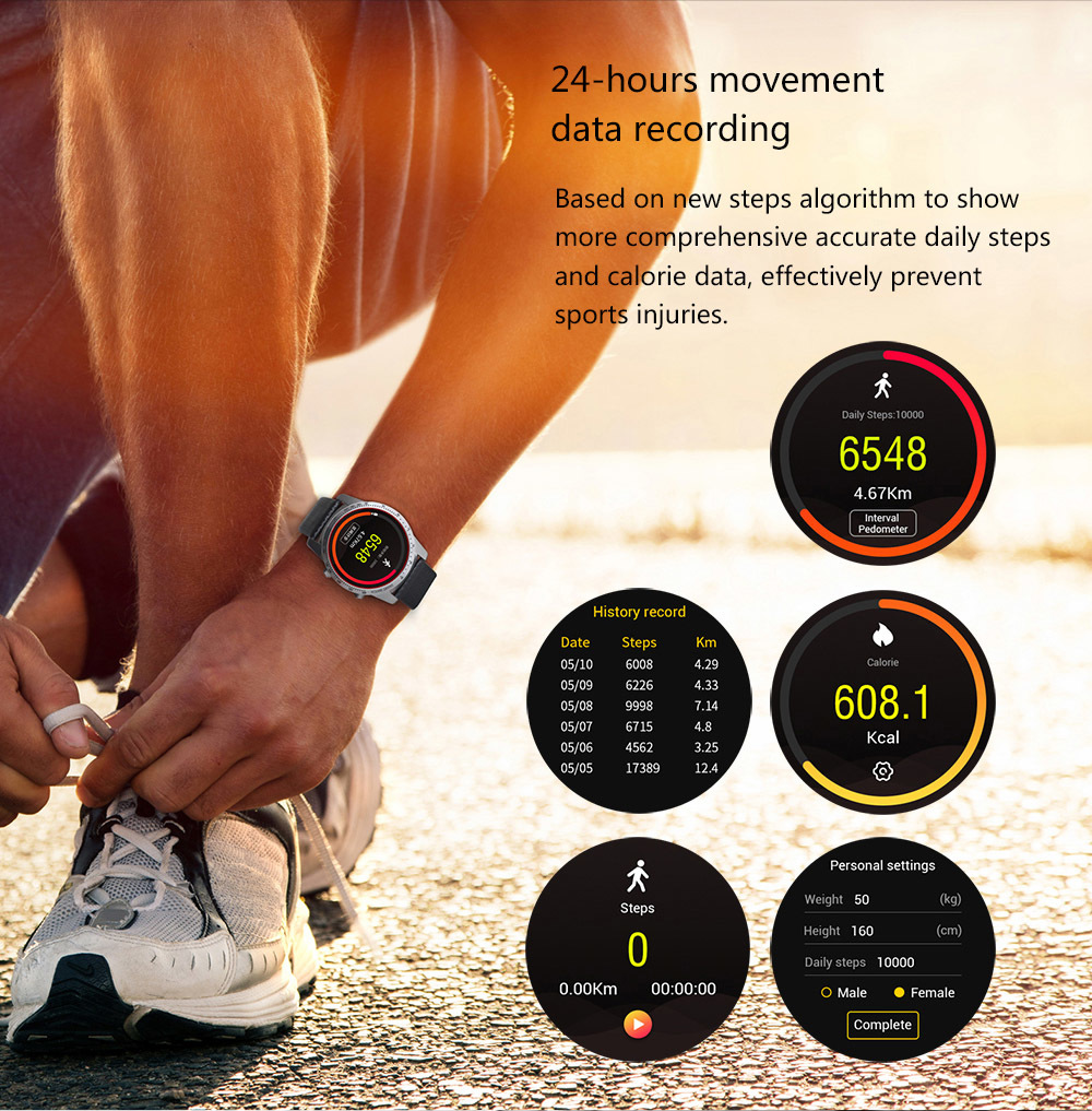 KingWear KW99 3G Smartwatch Phone Android 5.1 1.39 inch MTK6580 Quad Core 1.3GHz 8GB ROM Heart Rate Monitor GPS Anti-lost Pedometer