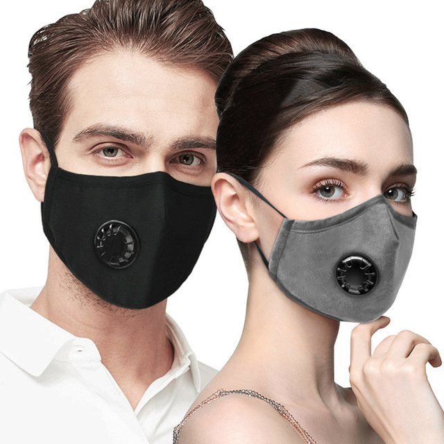 Cotton PM2.5 Anti Haze Mask Breath Valve Anti-Dust Mouth Mask Activated Carbon Filter Respirator Mouth-Muffle Black Mask Face 4