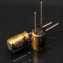 200PCS new Japanese original nichicon audio electrolytic capacitor KZ 100Uf/25V free shipping цена