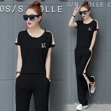 YICIYA black striped outfit tracksuit sportswear suits co-ord for women 2 piece set plus size summer 2019 top and pants clothing