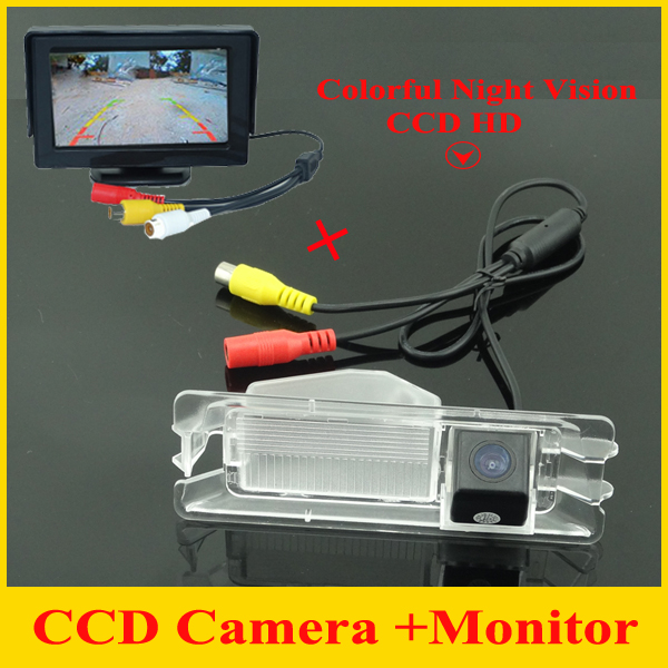 <font><b>4.3</b></font> <font><b>inch</b></font> Car <font><b>monitor</b></font> mirror + car rear view parking camera for Nissan March Renault logan Sandero Car backup reverse camera image