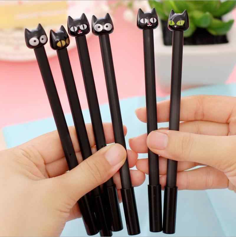 Black Head Cat Pens For Office School Writing Supplies Stationery