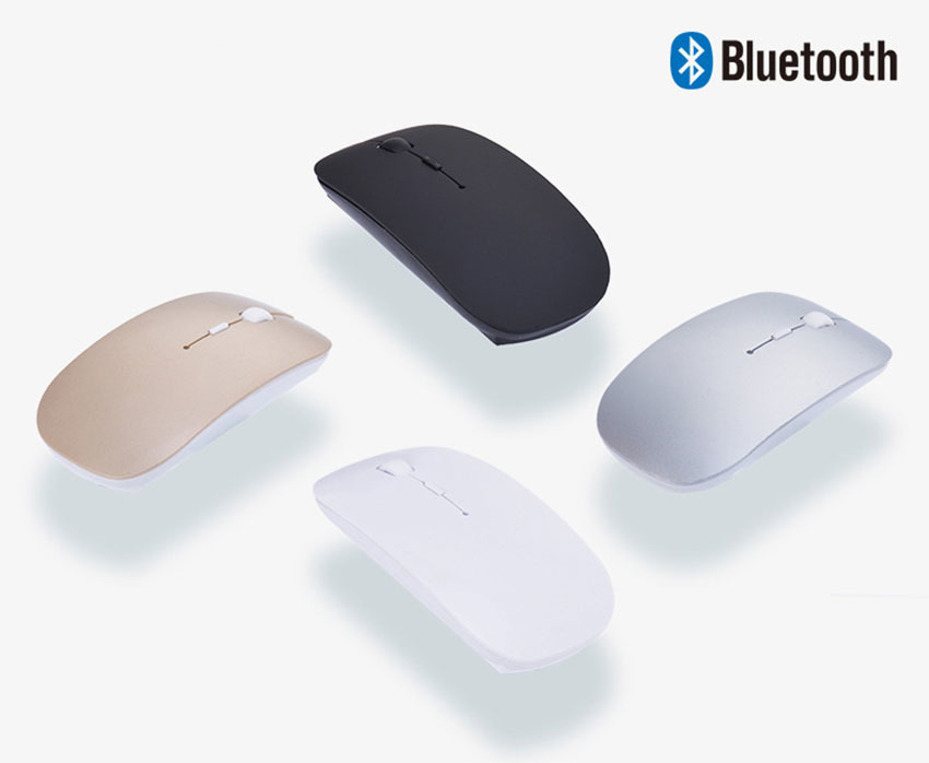 Gmilli 1600DPI Optical Bluetooth Wireless Mouse for Macbook Air Pro Win10/Mac Laptop Computer Tablet PC 2