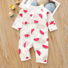 2019 Spring and Autumn New Casual Cotton Baby Watermelon Pattern Jumpsuit For Baby Boy and Baby Girl Crawling Clothes