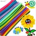 Yamala Hot 100Pcs/set Children Kids Baby  Educational Toys Plush Stick Shilly-Stick Handmade Art Craft Materials DIY toys