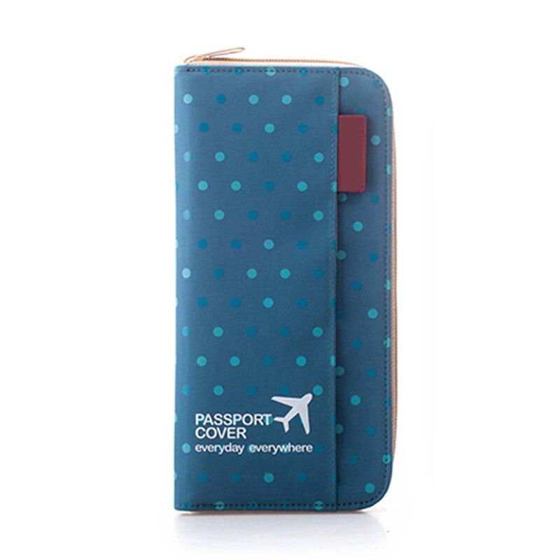 Moda masculina de viagem titular do passaporte organizador capa id cartão saco passaporte carteira documento bolsa manga protetora pc0002