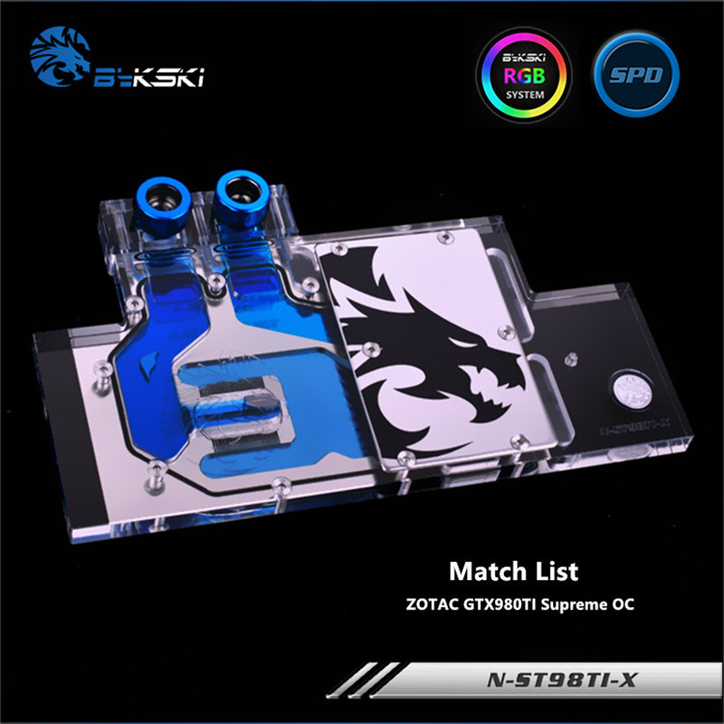 Bykski Full Coverage GPU Water Block For ZOTAC GTX980TI Supreme OC Graphics Card N-ST98TI-X computador cooling fan replacement for msi twin frozr ii r7770 hd 7770 n460 n560 gtx graphics video card fans pld08010s12hh