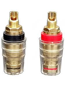 Amplifier Socket-Terminals Binding-Post-Adapter Banana-Plug Jack Speaker Gold-Plated