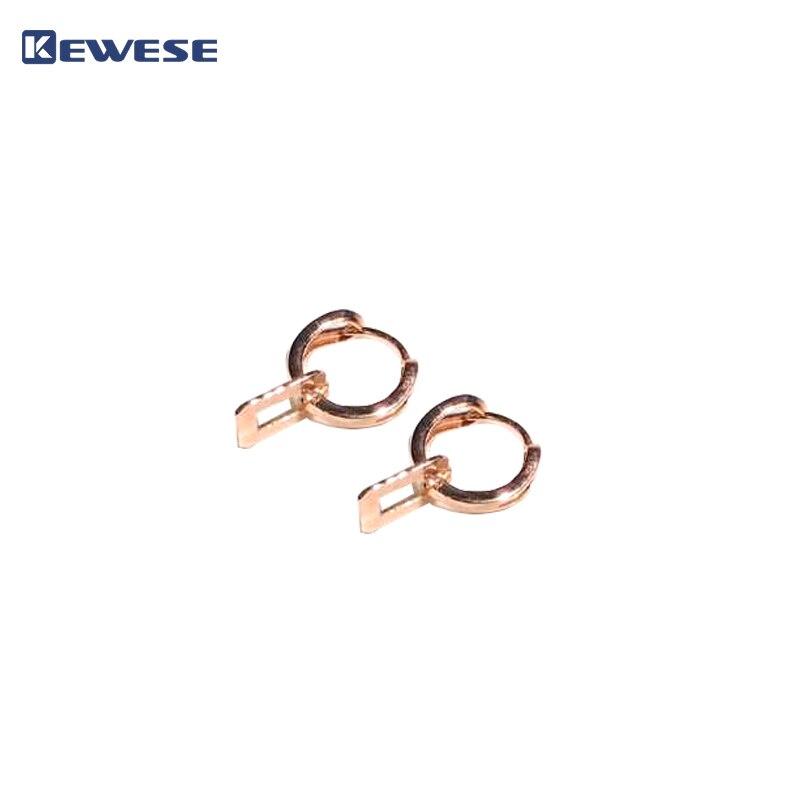 Boucles d'oreilles 18 K, bijoux en argent 925, boucles d'oreilles pour dames
