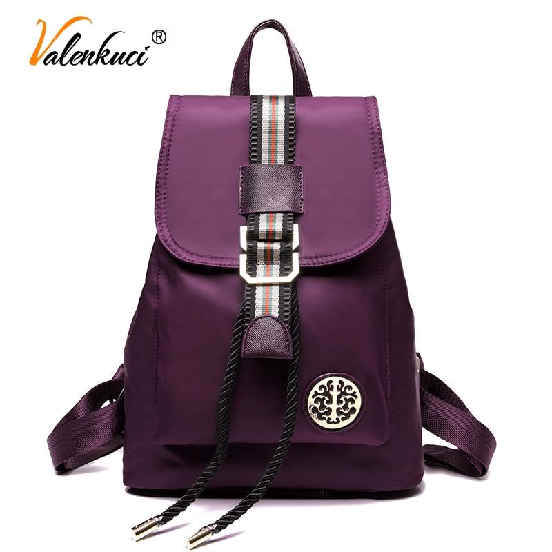 Valenkuci new 2017 women backpack high quality backpacks women s backpack for teenage girls nylon school