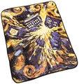 Frete grátis Multi-função Anime Doctor Who TARDIS Cobertores Coral Fleece Explosão folha Lance Tapete Cobertores de Cama Amarela