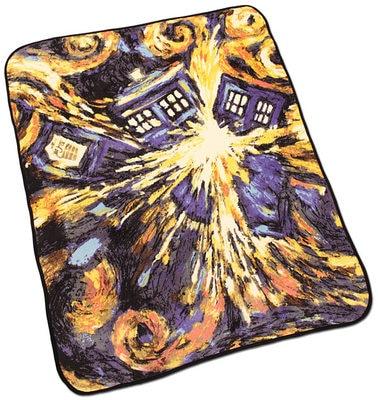ФОТО free shipping Multi-function Anime Doctor Who TARDIS Blankets Coral Fleece Blast Carpet Throw Blankets Yellow Bed sheet