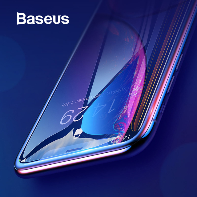 Baseus 0.3mm מלא כיסוי מזג זכוכית עבור iPhone Xs Xs Max XR 2018 מסך מגן דק מגן זכוכית עבור iPhone X Xs XR