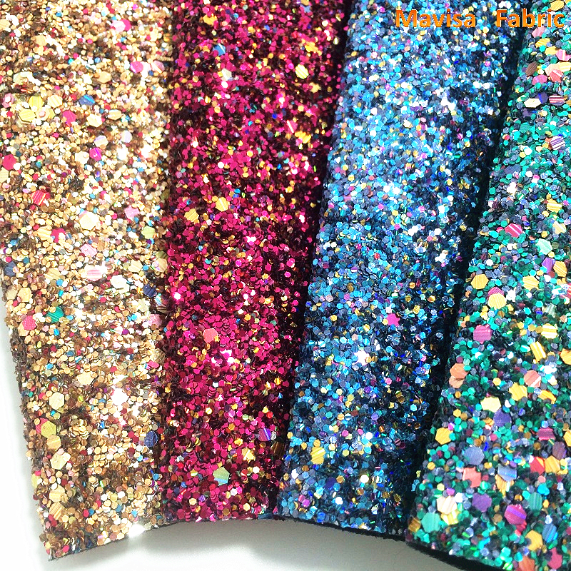 1PCS A4 SIZE 21X29cm  Synthetic Leather, Artificial Leather, Chunky Glitter Fabric For Bow DIY  Handbags Shoes  MJ062