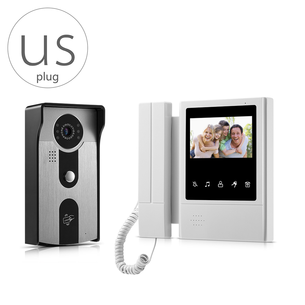 V43E168-IDT 4.3 inch LCD Video Door Phone Video Intercom Doorbell Home Security Monitor IR Camera with Night Vision 7 inch video doorbell tft lcd hd screen wired video doorphone for villa one monitor with one metal outdoor unit night vision