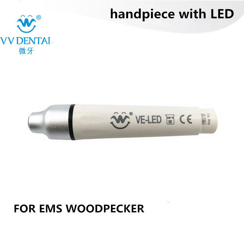 Dental ultrasonic scaler led handpiece for EMS/Woodpecker dental unit for teeth cleaning scaler