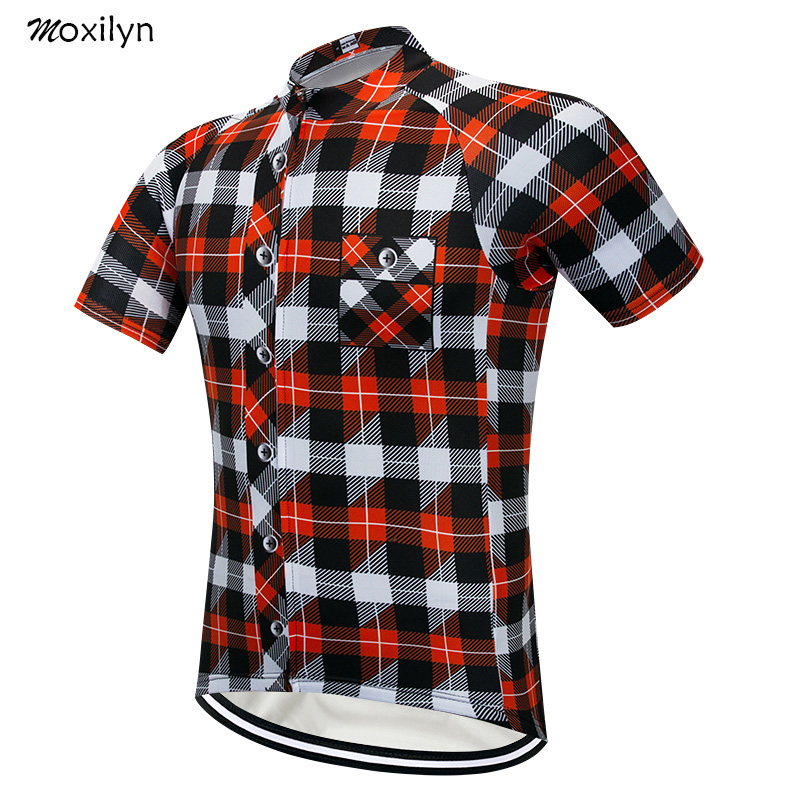 Moxilyn Brand Cycling Jersey Top Short Sleeve Summer Men's Shirt Quick Dry Breathable Bicycle Wear Racing Bike Cycling Clothing-in Cycling Jerseys from Sports & Entertainment
