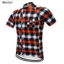 Moxilyn бренд Велоспорт трикотажный топ короткий рукав лето для мужчин рубашка быстросохнущая велосипедная дышащая одежда для езды на гоночном велосипеде костюмы