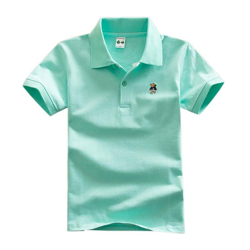 2018 Nieuwe Mode Jongens T Shirts Voor Kinderen Zomer Kinderen Kleding Effen Kleur Katoen Korte Mouw Jongens Meisjes T-shirt Dq299 Kortingen Prijs