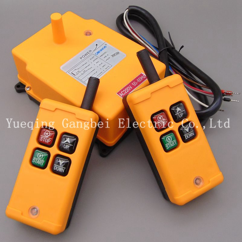 ФОТО HS-4 (include 2 transmitter and 1 receiver)  crane remote control  Your order note need voltage:380VAC 220VAC 36VAC  24VDC