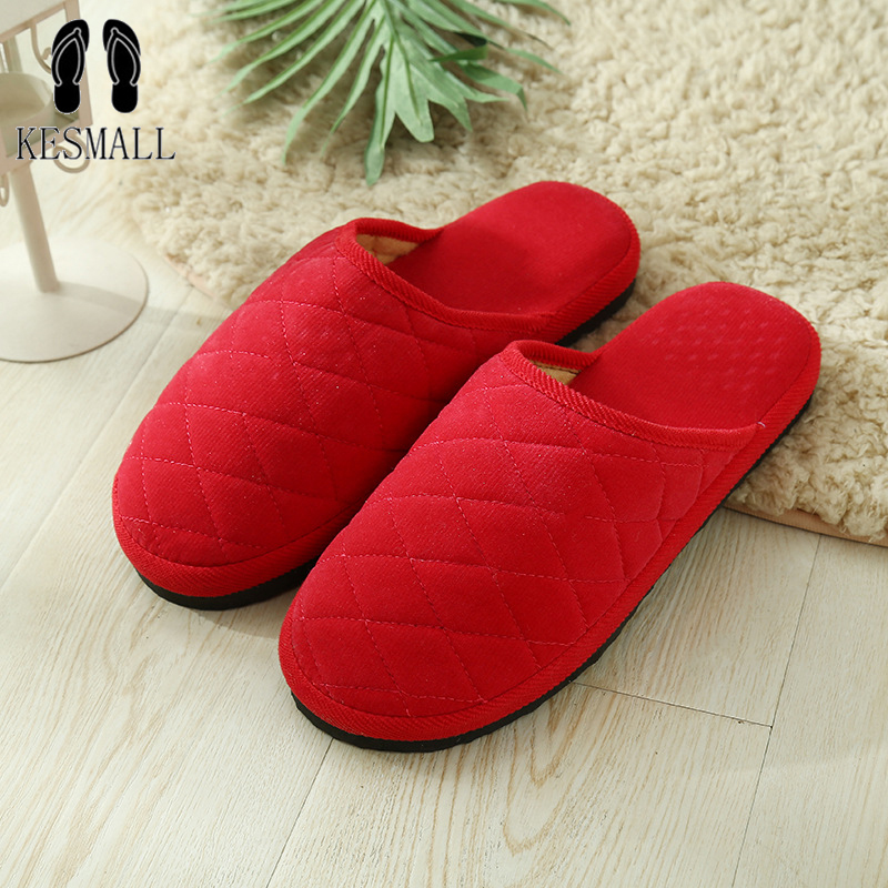 7 Colors New Fashion Soft Sole Autumn Winter Warm Home Cotton Plush Slippers Women Indoor\ Floor Flat Shoes Girls Gift WS318 autumn and winter carton lovers slippers indoor cotton padded floor warm slippers plush for women slippers