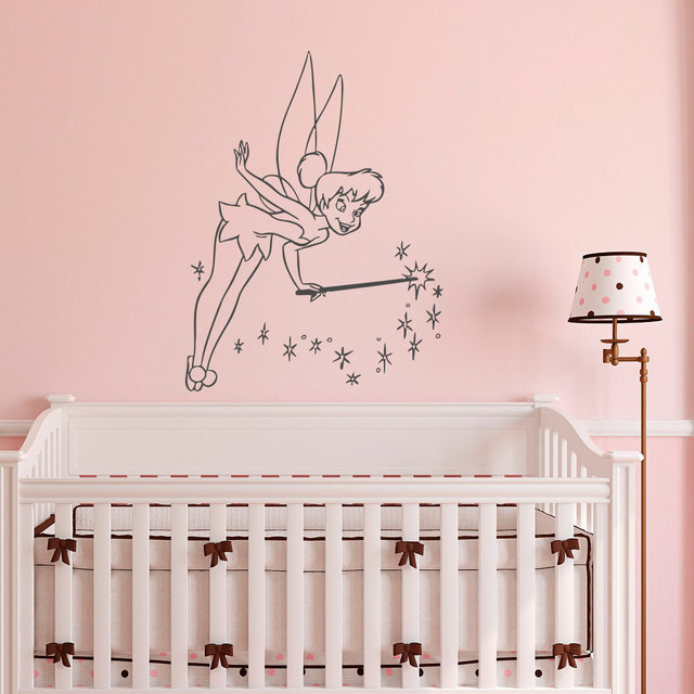 Magic Fairy Wall Sticker For Kids Room Bedroom Living Home Decor Nursery Vinyl