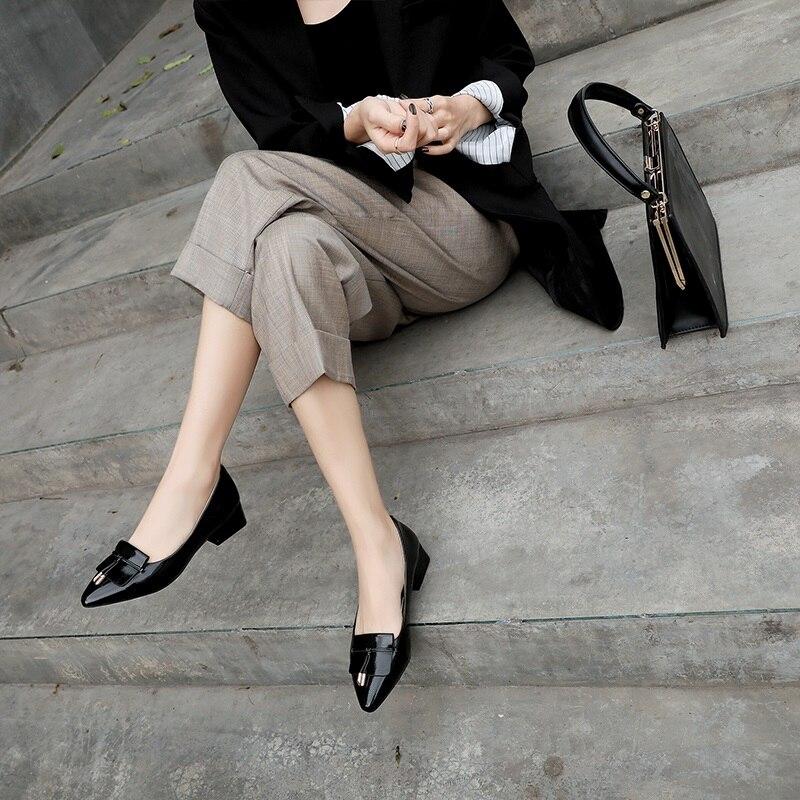 Apricot Grande Nouvelle Taille Chaussures À Slip red Bout Printemps Populaire Pompes Mode L'extérieur En Égérie black Pour Pointu on Peu Verni Cuir Femmes Profonde R1HxnIq