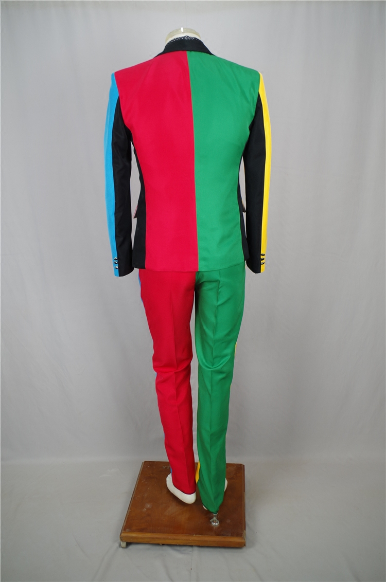 Irregular Colorful Men's Suits Magician Clown Performance Stage Outfits Nightclub Male Singer Host Blazers Pants Suit DS Costume