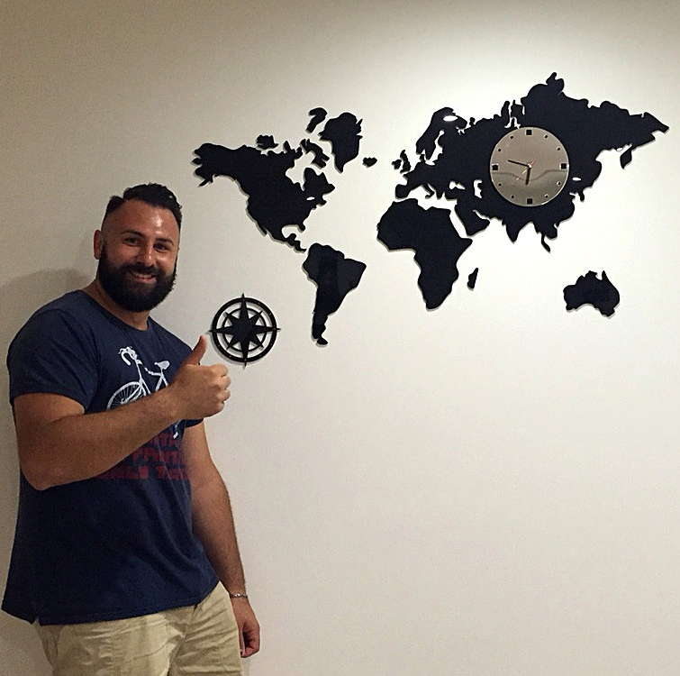 Online Buy Wholesale world clock wall from China world clock wall