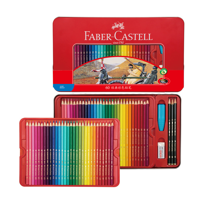 FABER CASTELL 48/60 color red suit oily color lead tin painting special color pencil faber orizzonte eg8 x a 60 active