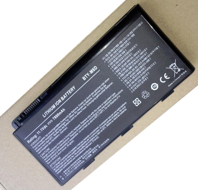 Image 2 - laptop battery BTY M6D E6603 For MSI GT60 GT660 GT660R GT663 GT663R GT670 GT680 GT680DX GT680DXR GT680R-in Laptop Batteries from Computer & Office