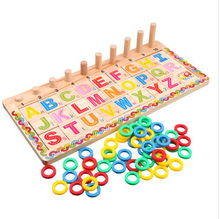 Factory direct active young children learn the English alphabet cards on lap board wooden Early Learning teaching to