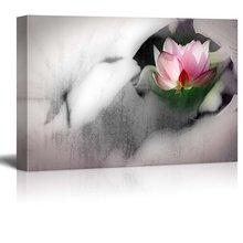 Современный абстрактный акварельный постер Зен Лотос настенная художественная картина красивый цветок холст картина без рамки подарок
