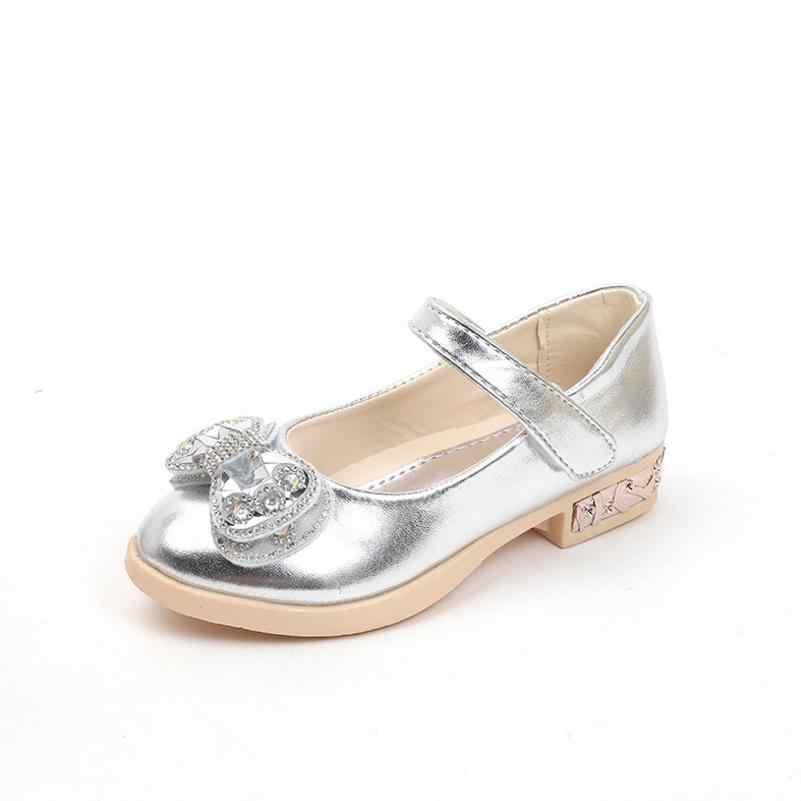 ... HaoChengJiaDe детей со стразами для девочек кожаные туфли принцессы  сандалии для девочек для больших девочек Свадебная ... 44c85add020