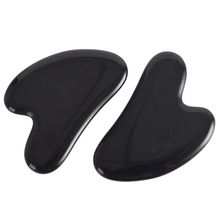 2pcs Jade Massager Obsidian Gua Sha Scratch Acupuntura head Point Foot Back Face Lift Stone Massage Beauty Skin Health Care Tool plantar point care tool massager fine secret rain stone cobblestone foot leg massage pad equipment blanket fitness trail