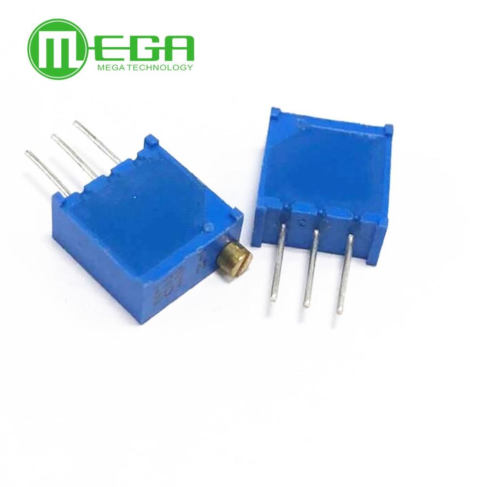 10pcs 3296W Series Resistanceohm Trimpot Trimmer Potentiometer 1K 2K 5K 10K 20K 50K 100K 200K 500K 1M