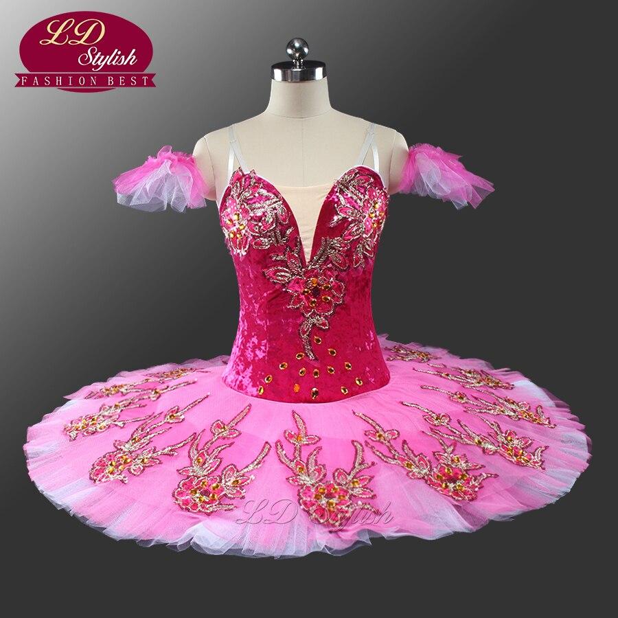 Сахарная Слива красно фиолетовый Профессиональный Балетные костюмы пачка ld0051 взрослая Балетные костюмы Профессиональный Обувь для девоче