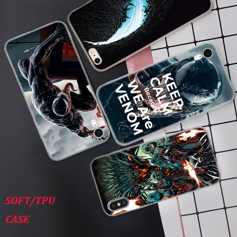 Silicone Case The music video for venom Printing for iPhone XS XR Max X 8 7 6 6S Plus 5 5S SE Phone Case Matte Cover in Fitted Cases from Cellphones Telecommunications