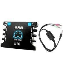XOX K10 USB ses kartı ile XOX MA2 canlı akışı kablo adaptörü Combo