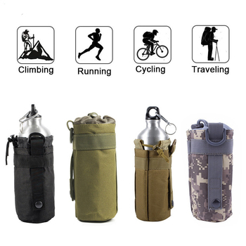 Tactical Water Bottle Pouch Outdoor Molle Military Water Bag Kettle Holder Accessory Bags Camping Hiking Travel Survival Kits 1