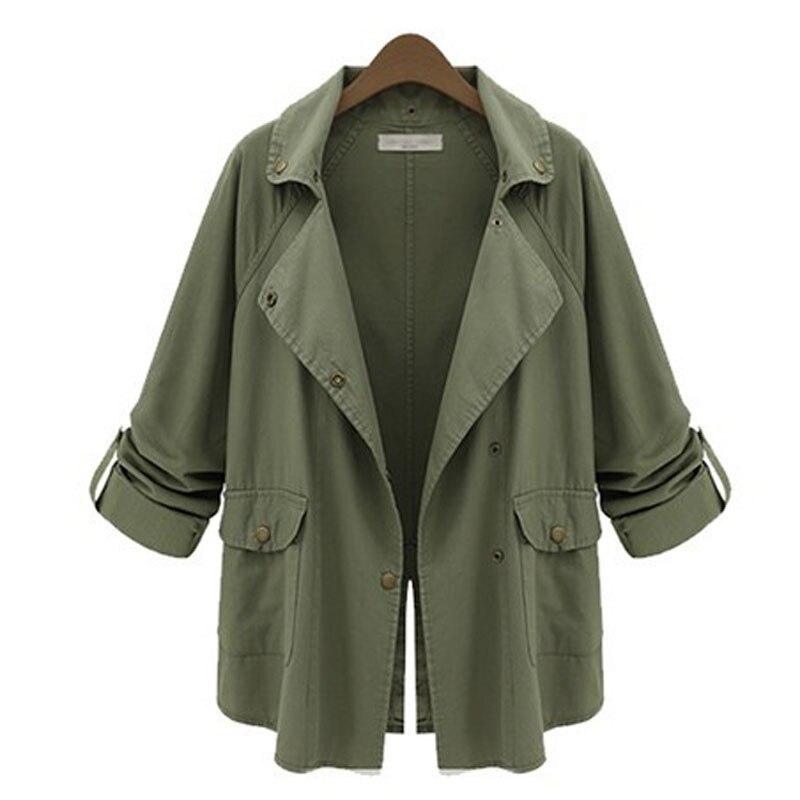 Army Green Bomber Jacket Coat Women Autumn Winter Long Sleeve Basic Jackets Outwear Slim Coat Casual Female Driver Coats Manteau