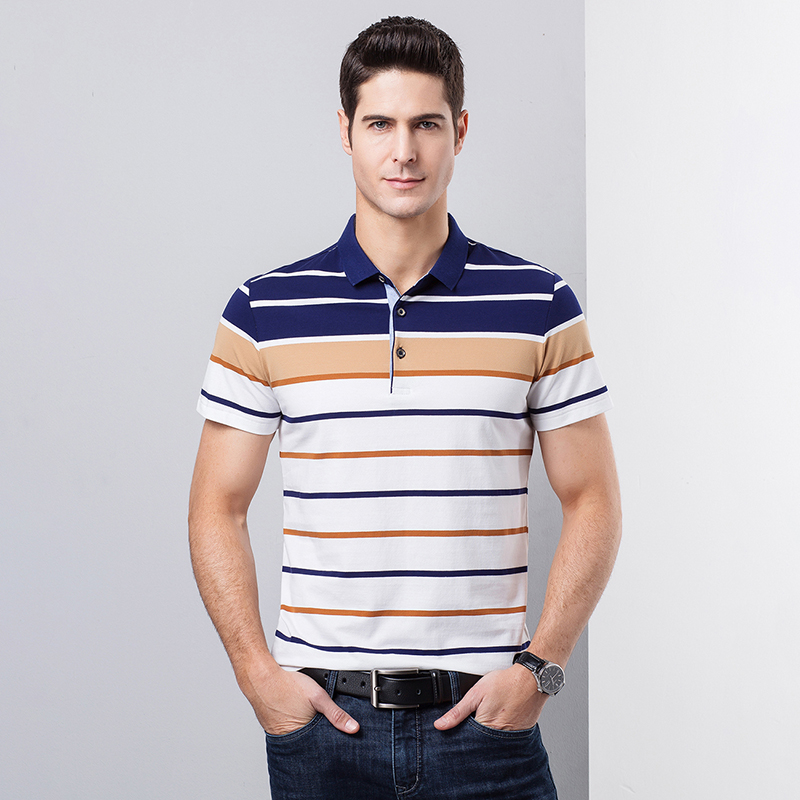 High Quality Summer Male   Polos   Patchwork Colors Cotton Men Casual Business   Polo   Shirts Short Sleeve
