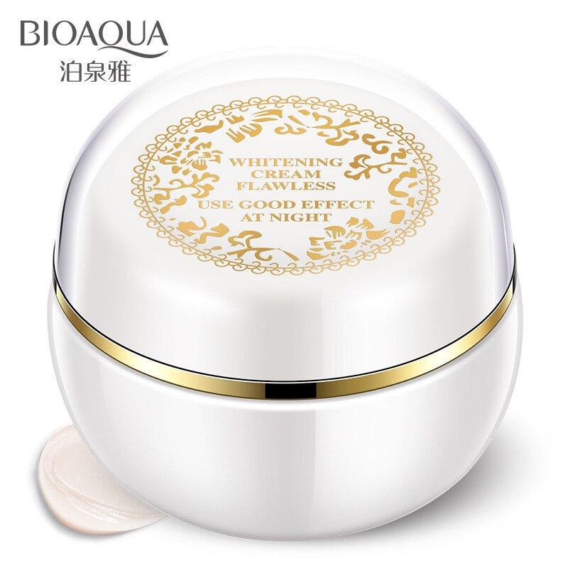 BIOAQUA Gesicht Bleaching Creme Für Dunkle Haut Flecken Narben Schnee Weiß Creme Tag Nacht Gesicht Creme Für Haut Bleaching Koreanische hautpflege