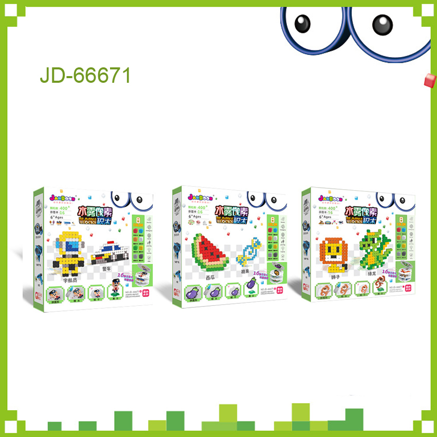 DOLLRYGA 66671 Beads In Puzzle For Children Aqua Set Toy Kids Craft Beads Kindergarten Material Jouet Enfant Foam Bead Girl Gift