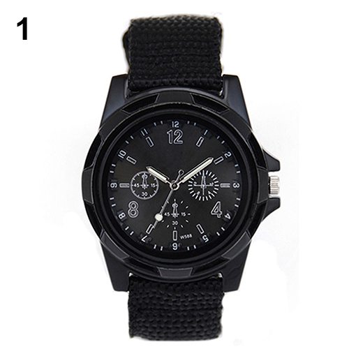 New Solider Military Army Men's Sport Style Belt Luminous Quartz Wrist Watch 4 Colors 1HGI 6T2R C2K5W